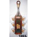 Fľaša s pohármi v drevenom stojane motív láska