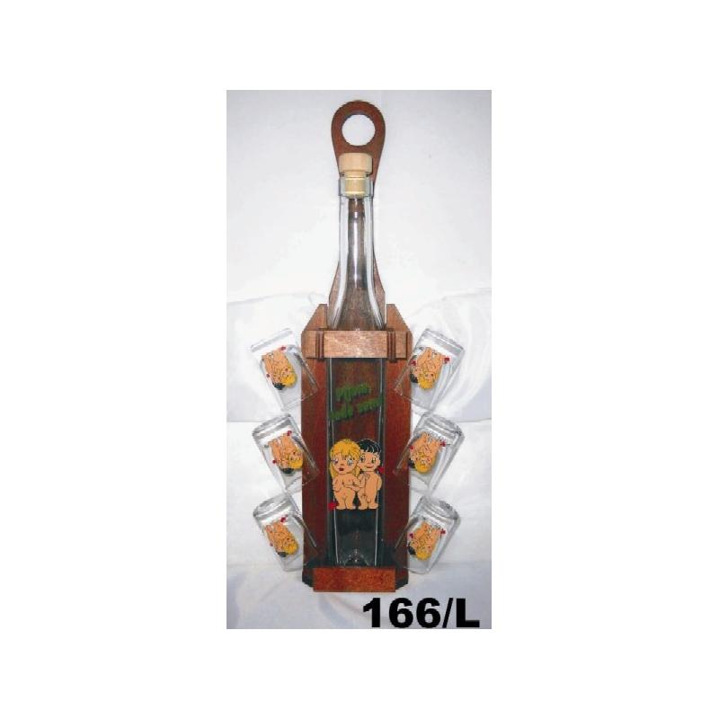 Fľaša 350ml stojan poháre láska