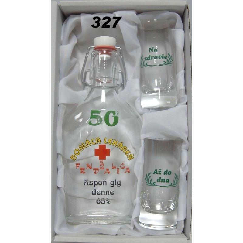 Fľaša a 2 ks pohárov výročné jubileum