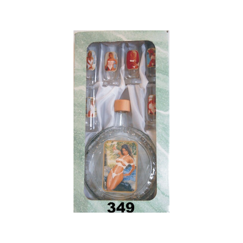 Fľaša slivovica 5dl 6 pohárov akty