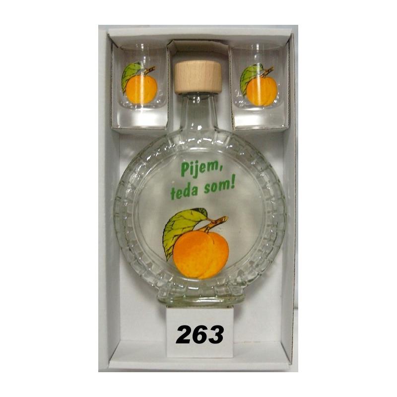 Fľaša slivovica 350ml 2ks poh.ovocie