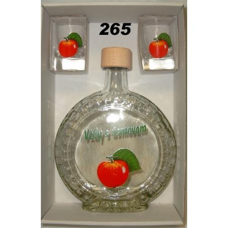 Fľaša slivovica 5dl 2ks poh ovocie