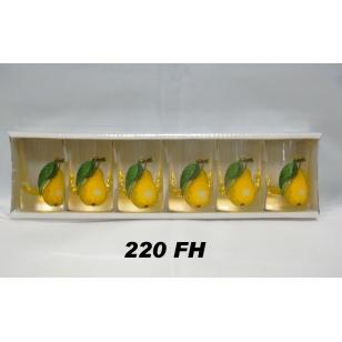 Poháre 35 ml hrušky farbené