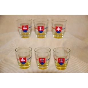 Poháre 30 ml Slovensko farba