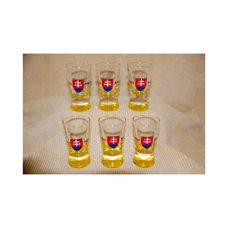 Poháre 25 ml Slovensko farba