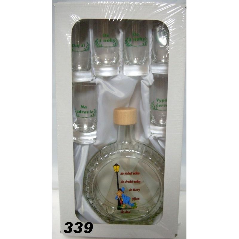 Fľaša slivovica0,5L+6poh. humor