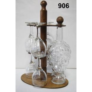 Stojan na poháre 6+1fľaša