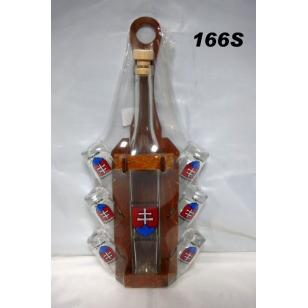 Fľaša0,35L stojan poháre Slovensko