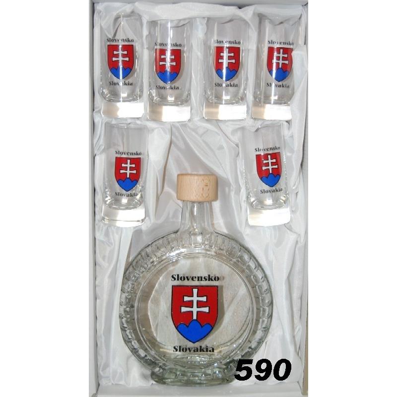 Slivovica0,5l+6poh. mix SK