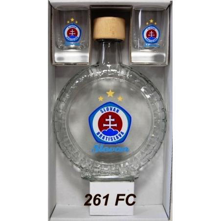 Fľaša slivovica0,35l+2poháre
