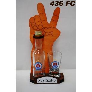 Viktory fľaša+pohár FC Slovan