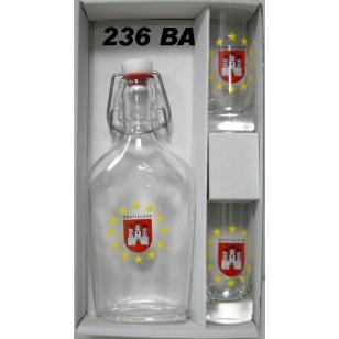 Ploskačka 2 ks pohárov s logom Bratislava