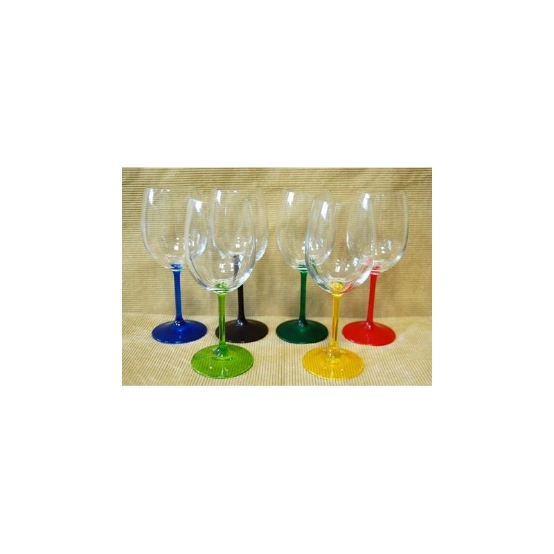 Poháre na víno 250 ml farbené