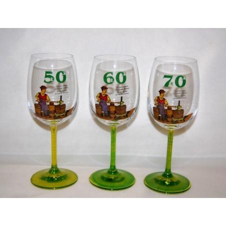 Pohár výročie víno