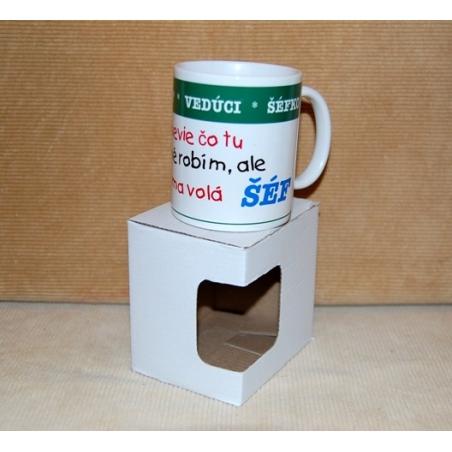 Darčekový hrnček s krabičkou šéf