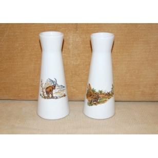 Váza porcelánová 15 cm poľovnícka