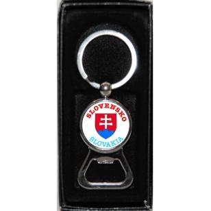Kovová kľúčenka otvárač Slovensko