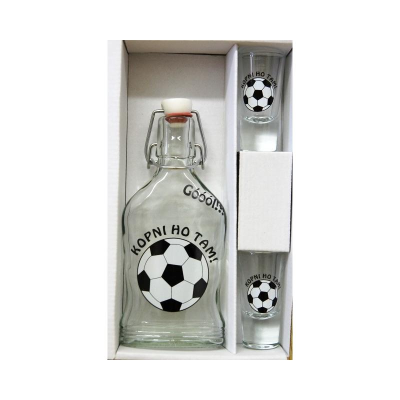 Ploskačka 2ks pohárov futbal