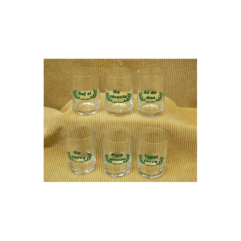 35ml poháre na zdravie farba