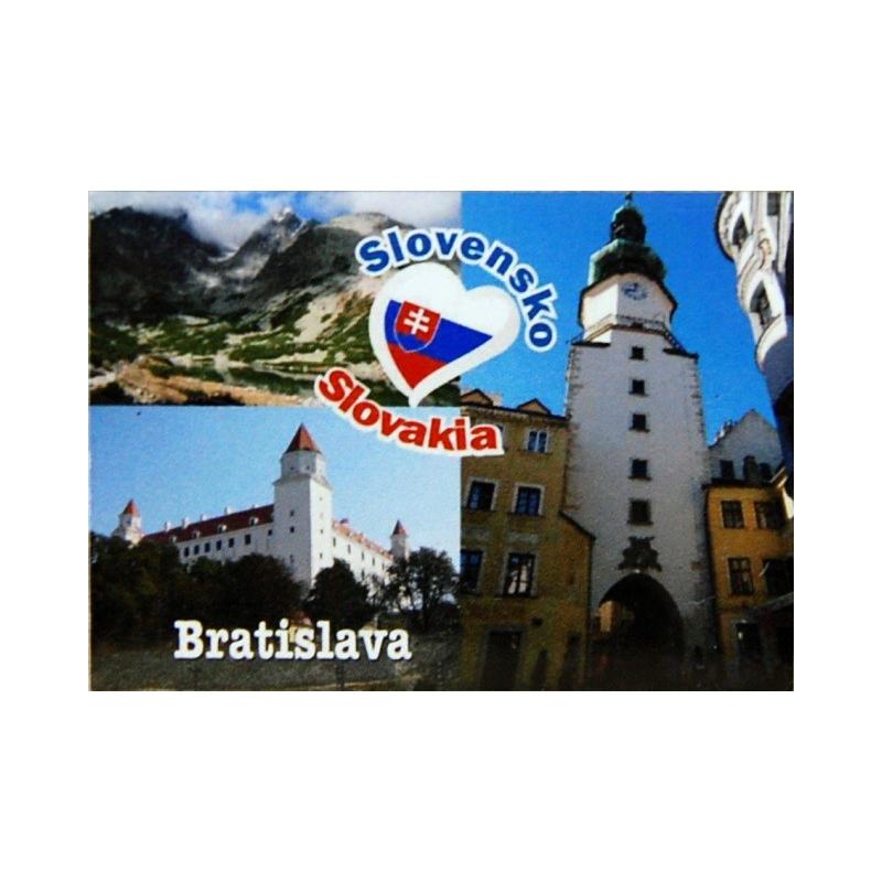 Magnetky na chladničku Bratislava 7x5 cm