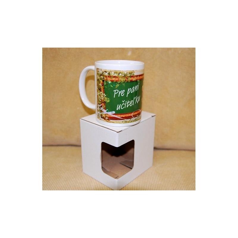 Darčekový hrnček s krabičkou učiteľke