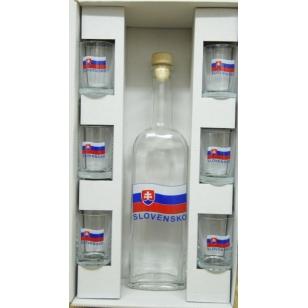 Fľaša s pohármi Slovensko