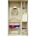Fľaša s 2 ks pohárov Slovensko