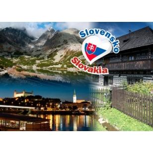 Magnetky na chladničku Slovensko 7x5 cm