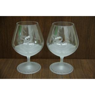 Svadobné poháre so swarovskými kamienkami