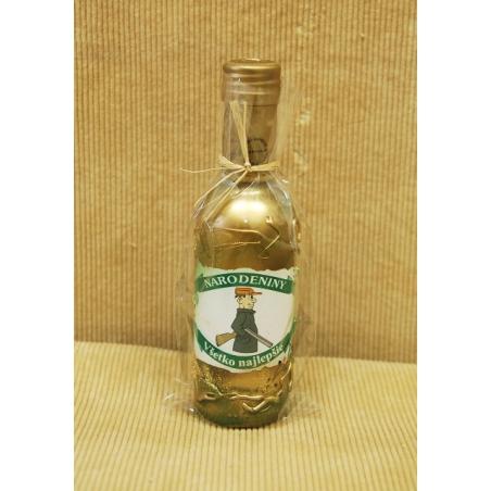 Zdobená fľaša 2dl medovina Poľovnícka