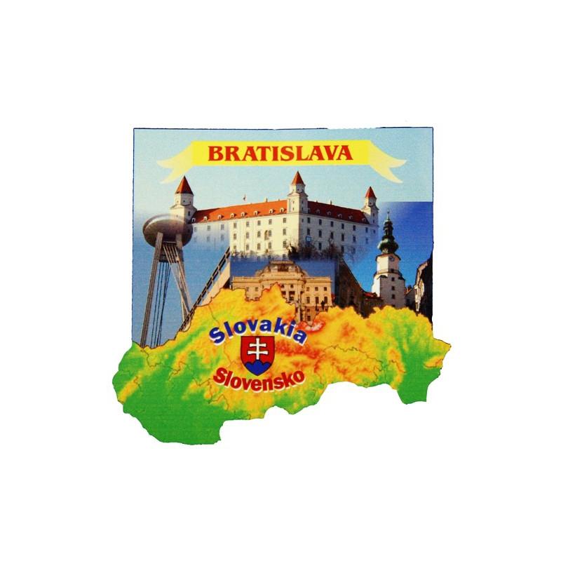 Drevená magnetka Bratislava