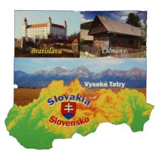 Drevená magnetka Slovensko