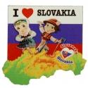 Drevená magnetka pár Slovakia