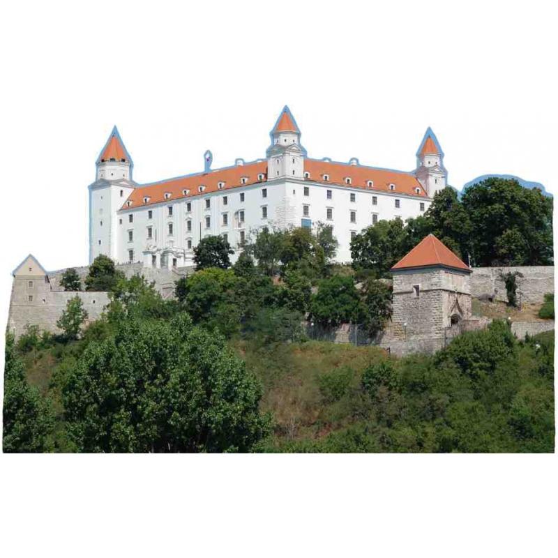Drevená magnetka hrad BA