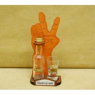 Viktory fľaša+pohár poľovník