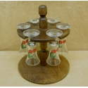 Súprava pohárov na stojane ovocie