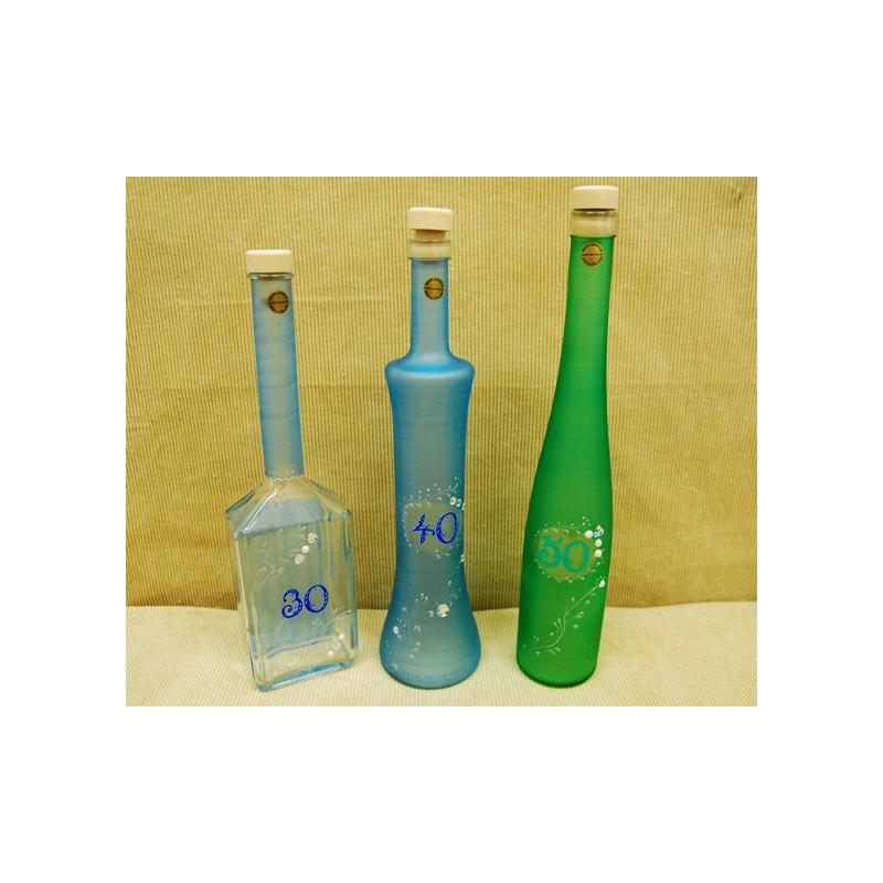 Fľaša 0,5L výročie s kamienkami
