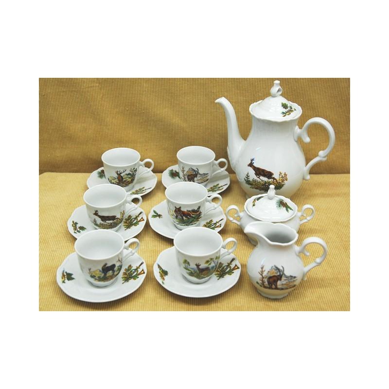 9 dielná kavová súprava poľ motív