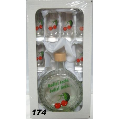 Fľaša slivovica 5dl 6pohárov ovocie