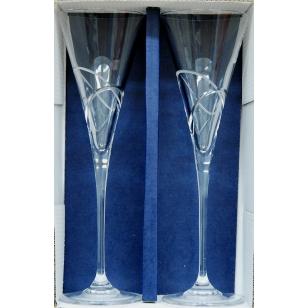 Svadobné krištáľové poháre 180 ml