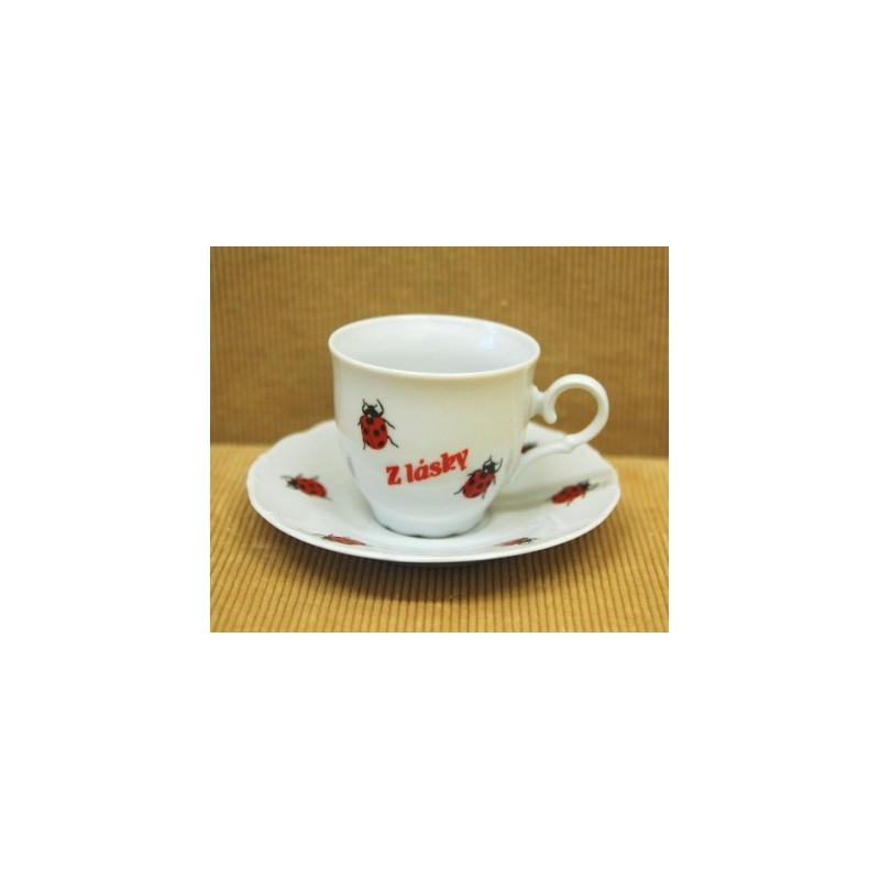 Kávová šálka s podšalkou