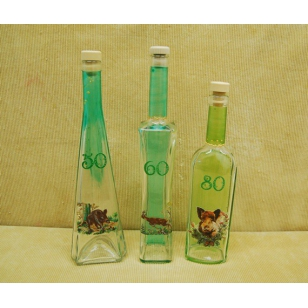 Fľaša k vyročiu poľovnícky motív