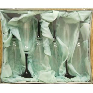 Poháre na šampus 175 ml farbené