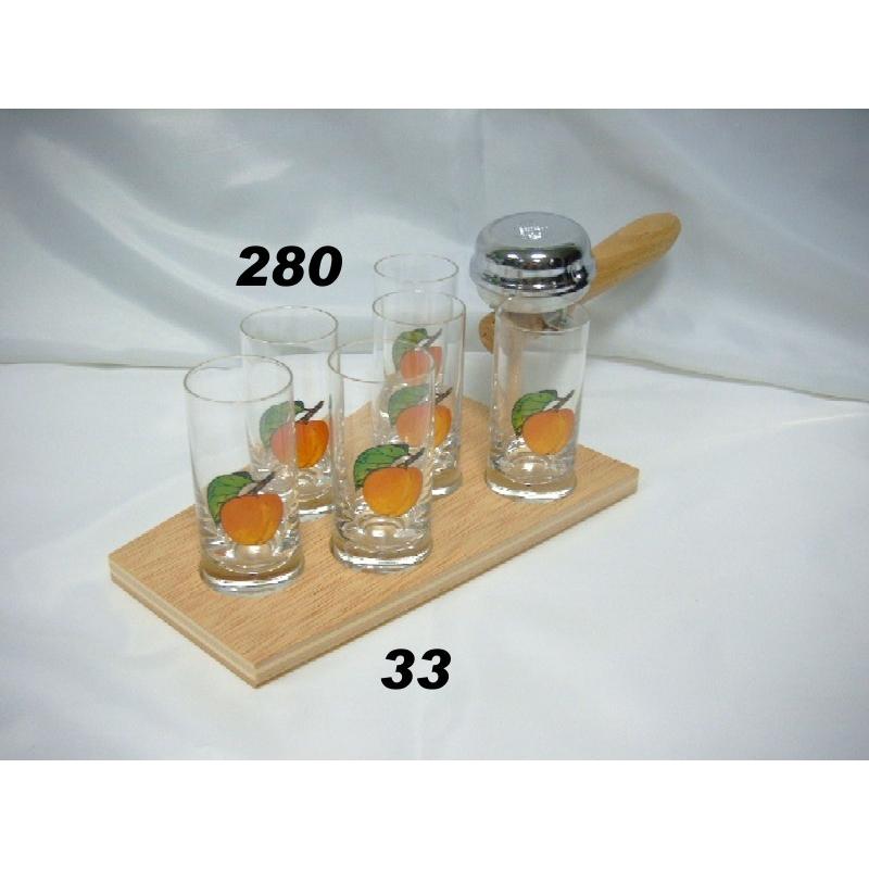 Súprava kelňa 60ml poháre ovocie