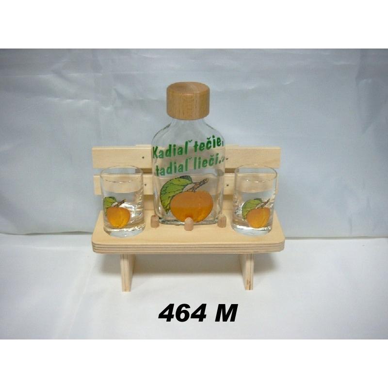 Lavička fľaša 2kspohárov ovocie