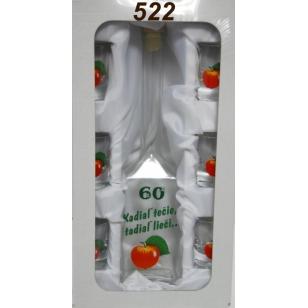 Fľaša výročie 6 pohárov  ovocie