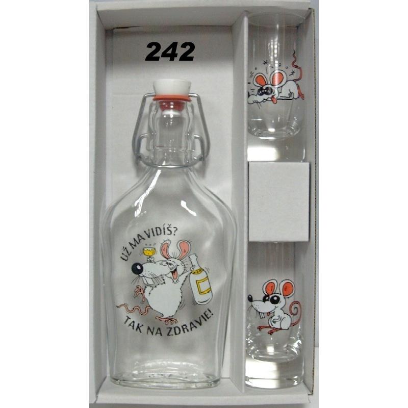 Ploskačka 2ks pohárov myši