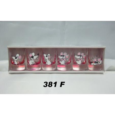 35ml poháre myši farba