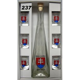 Fľaša s pohármi Slovensko KM