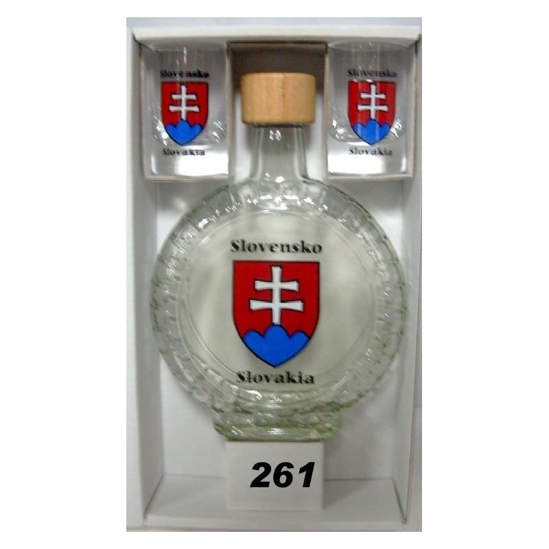 Fľaša slivovica+2poh. Slovensko